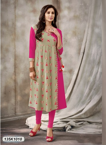 Latest Causal Designer Kurtis Online at Discount Price at leemboodi
