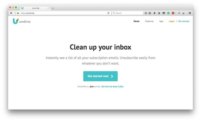 Unsubscribe Newsletter Mails