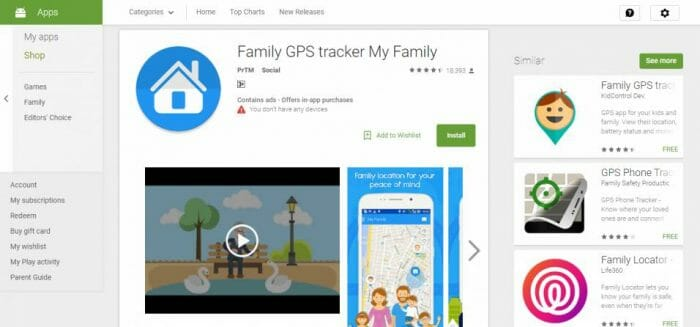 Family GPS tracker