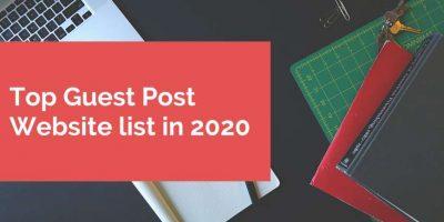 Top Guest Post Website list